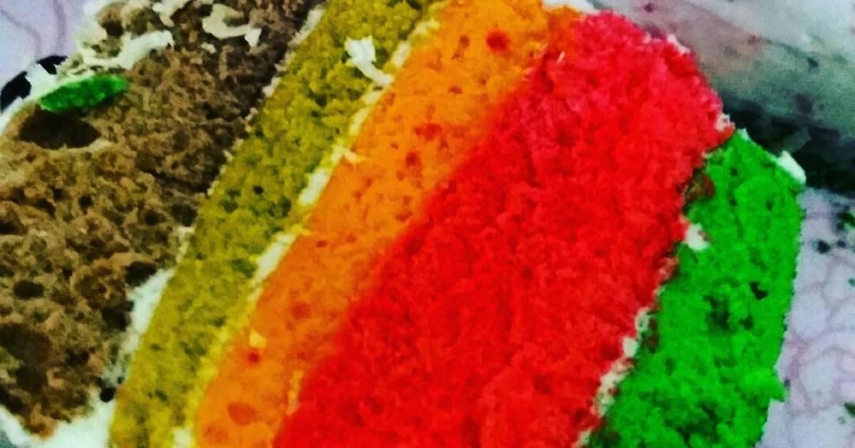 Resep Rainbow Cake Kukus Istimewa: Resep Rainbow Cake Kukus Mini Lembut Banget Untuk Pemula