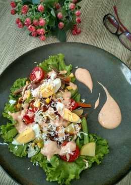 Chicken toast salad