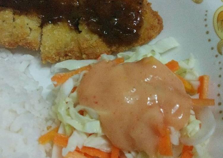 Chicken katsu teriyaki (plus salad ala hokben)