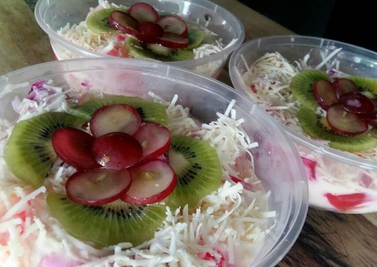 cara membuat Salad buah segar