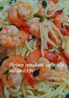 Shrimp spaghetti aglio olio