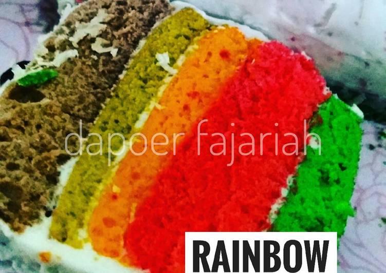 Resep Cake Kukus Untuk Bayi: Resep Rainbow Cake Kukus Mini Lembut Banget Untuk Pemula