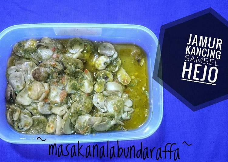 Resep Jamur Kancing Sambel Hejo Kiriman dari Alamanda Rizkyani