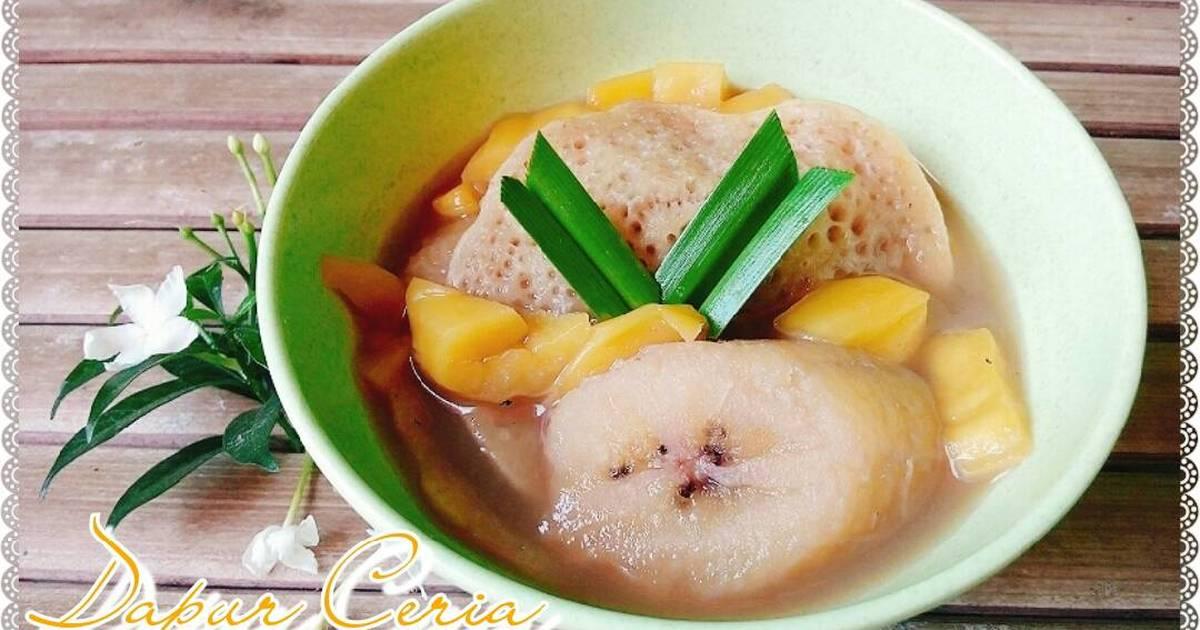 Resep Kolak serabi komplit (dg nangka dan pisang) super delicious