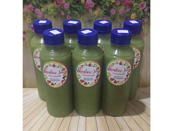 Diet juice apple pineapple avocado