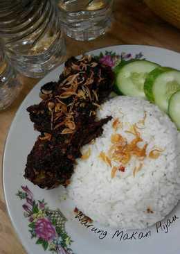 Nasi Bebek bumbu hitam ala madura