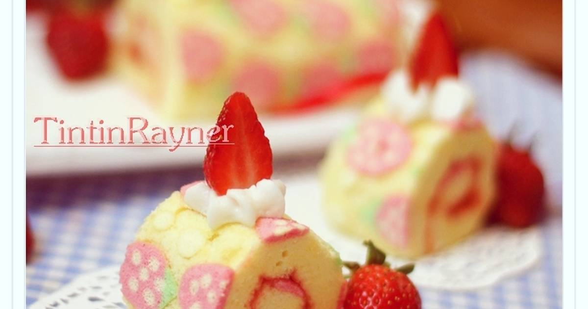 Resep Cara Membuat Motif pada Japanese Roll Cake - How to make japanese roll pattern