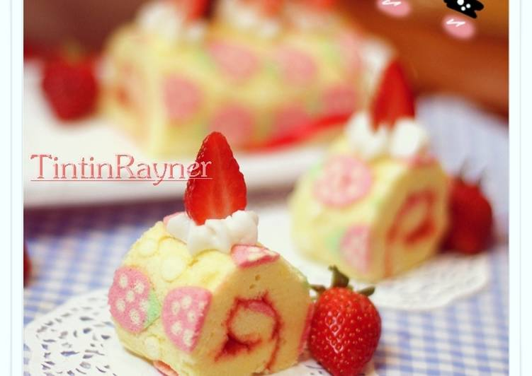 Resep Cara Membuat Motif pada Japanese Roll Cake - How to ...