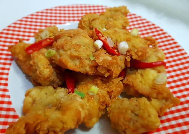Resep Dada ayam crispy oleh Weta Novinie Resep Dada ayam crispy By Weta Novinie