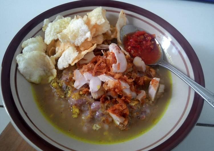 cara membuat bubur ayam beras merah