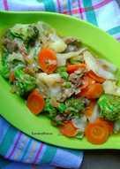 Tumis Sayur Daging Cincang