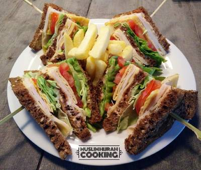 Club Sandwich with Brown Bread