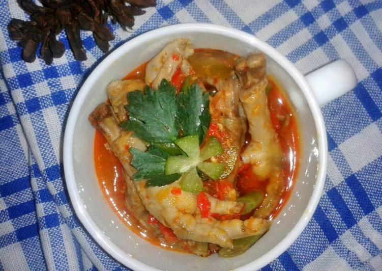Resep Ceker asam pedas Oleh Nina Nurjanah
