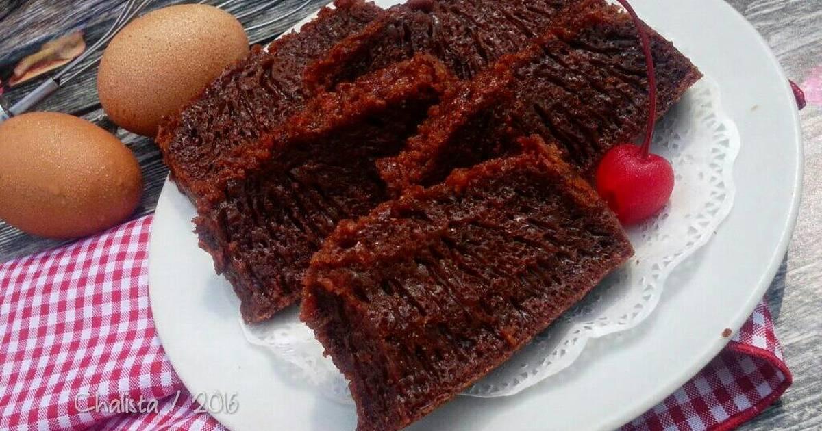 Resep Cake karamel / bolu sarang semut