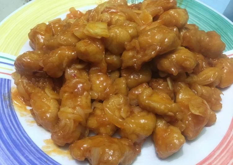 Resep Ayam tepung saos asam manis Oleh Venty Herlina