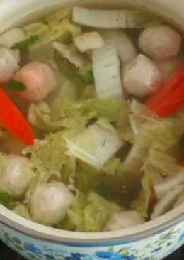 Sup Bakso Sawi putih