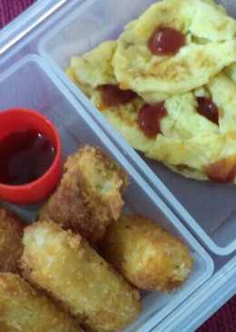 Pom Pom Dori & Scramble egg (bekal sekolah anak TK)