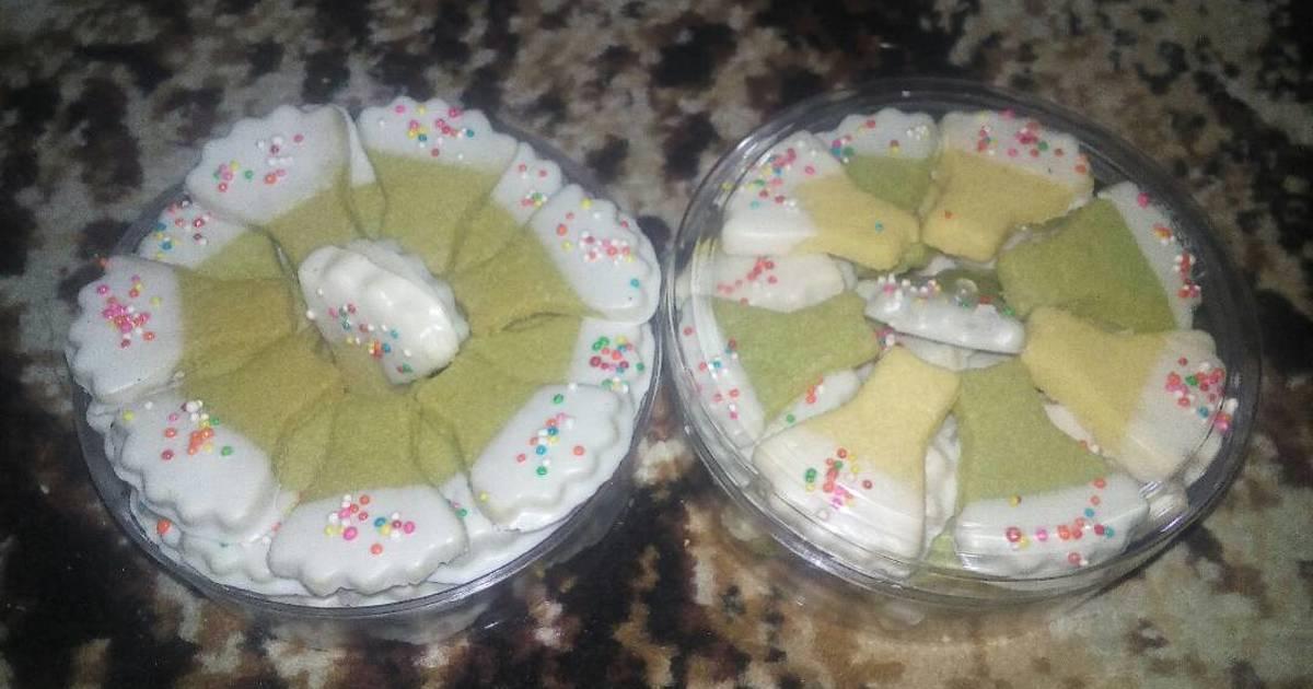 Resep Butter cookies matcha greentea