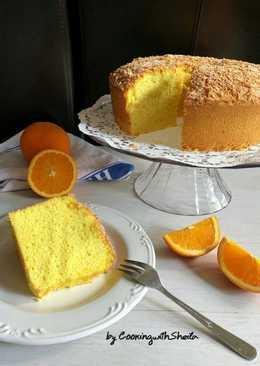 Orange Cheese Chiffon Cake