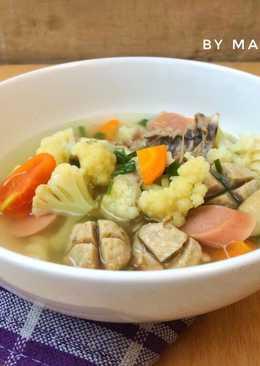 Sop sayur bakso sosis