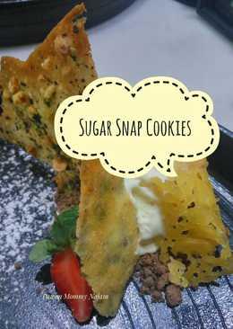 Sugar Snap Cookies (pelengkap choco lava cake)