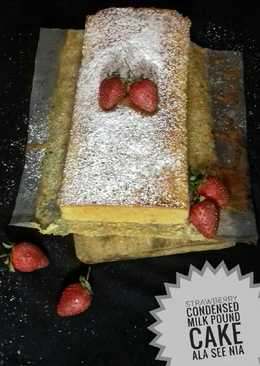 Strawberry Condensed Milk Pound Cake
