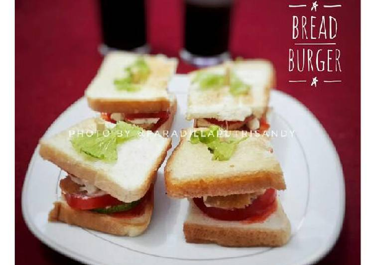 Resep Bread Burger Ala-Ala Kiriman dari Faradilla Putri Sandy