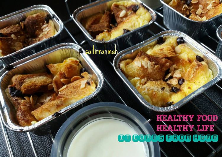 Bread pudding with vanilla sauce (recook resep Tintin Rayner)