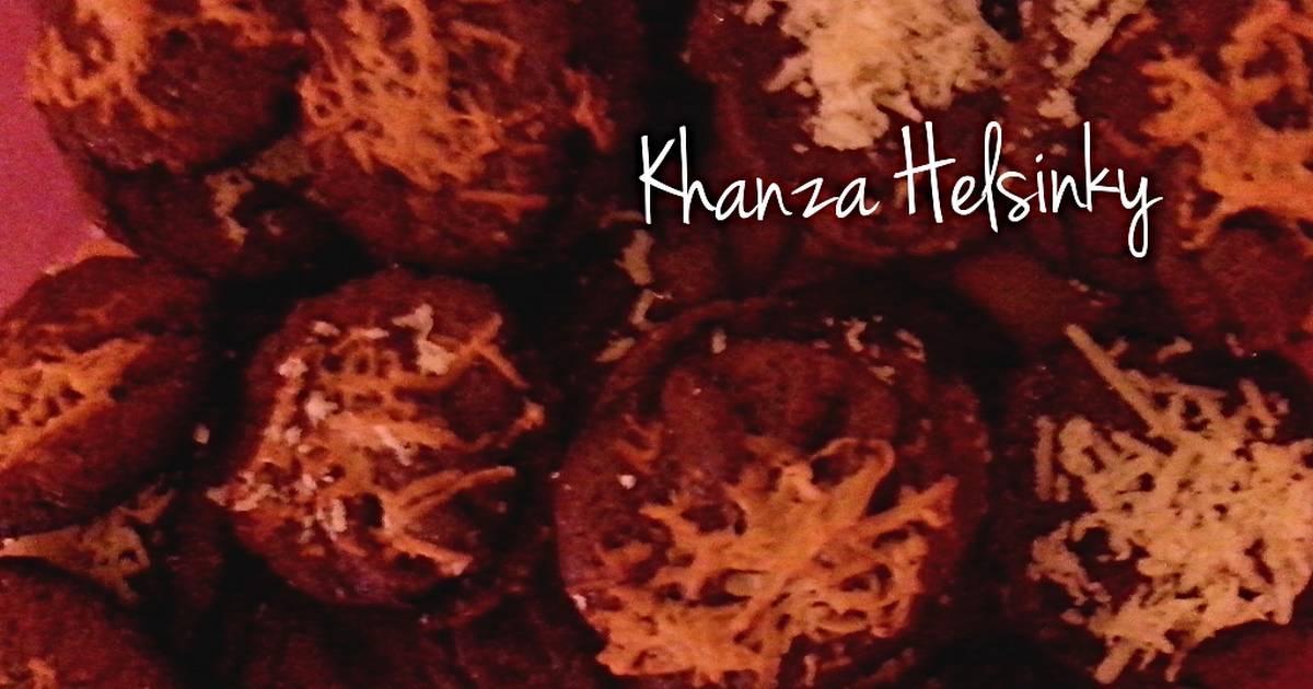 Resep COOKIES coklat tabur keju (no oven no mixer)