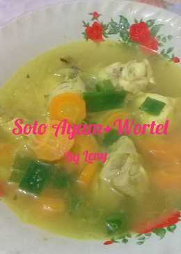 Soto ayam+wortel