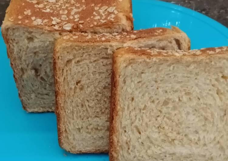 Roti tawar gandum empuk