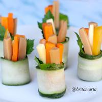 Fresh Cucumber Roll-ups / Salad Mentimun Gulung #MenuSehatAnak