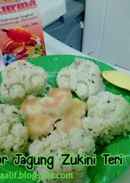 Nasgor Jagung Teri Medan (toddler meal)