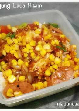 Bekal Suami - Rice Bowl Telur Sosis Jagung Lada Hitam