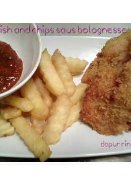 Fish and chips saus bolognesse (dori katsu)
