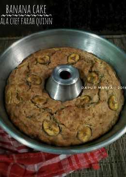 Banana Cake ala Chef Farah Quinn - No Mixer, No Ribet