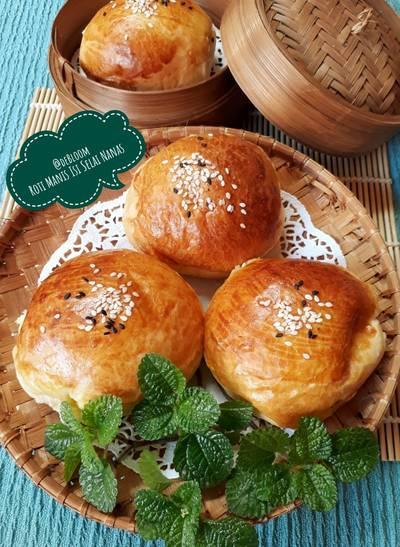 487. Roti Manis Isi Selai Nanas, lembut & moist😋