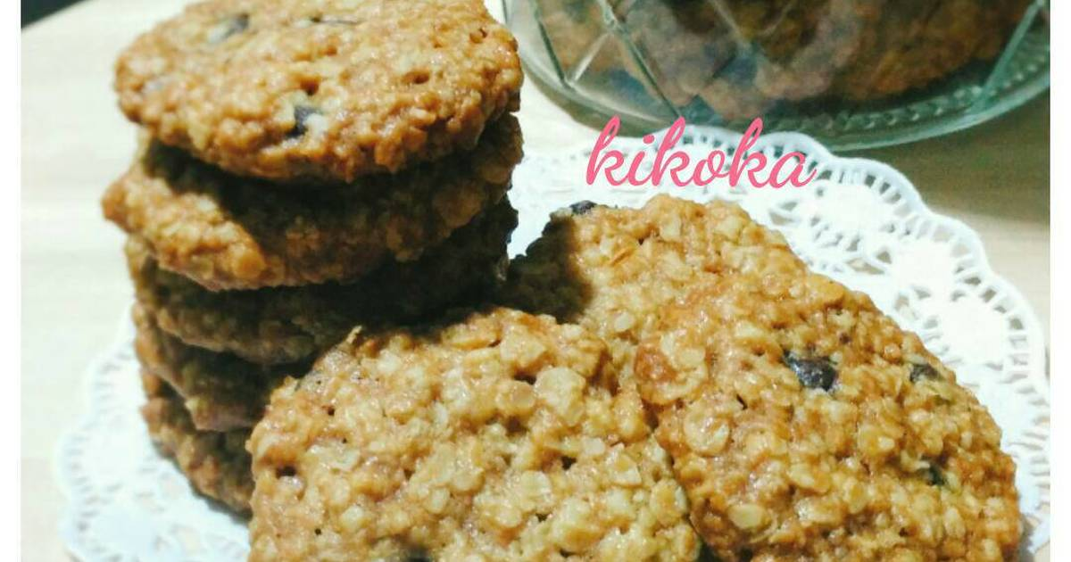 Resep Oatmeal Chocochip Cookies