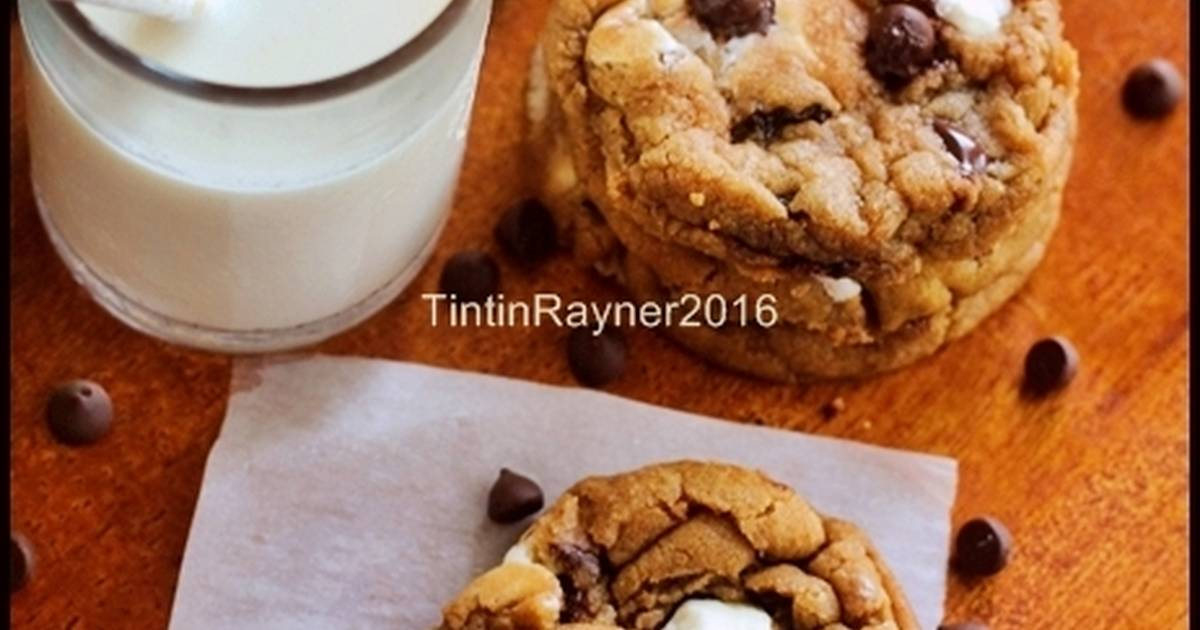 Resep Chewy Chocolate Cookies ala New York Times -trial 1-