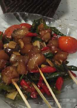 Sate kikil mercon super simple