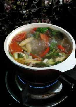 Sup ikan kakap merah(tidak pedas)