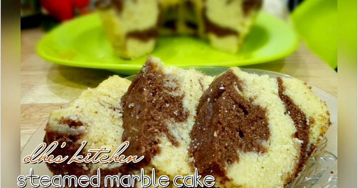 Resep Steamed marble cake (versi ekonomis)
