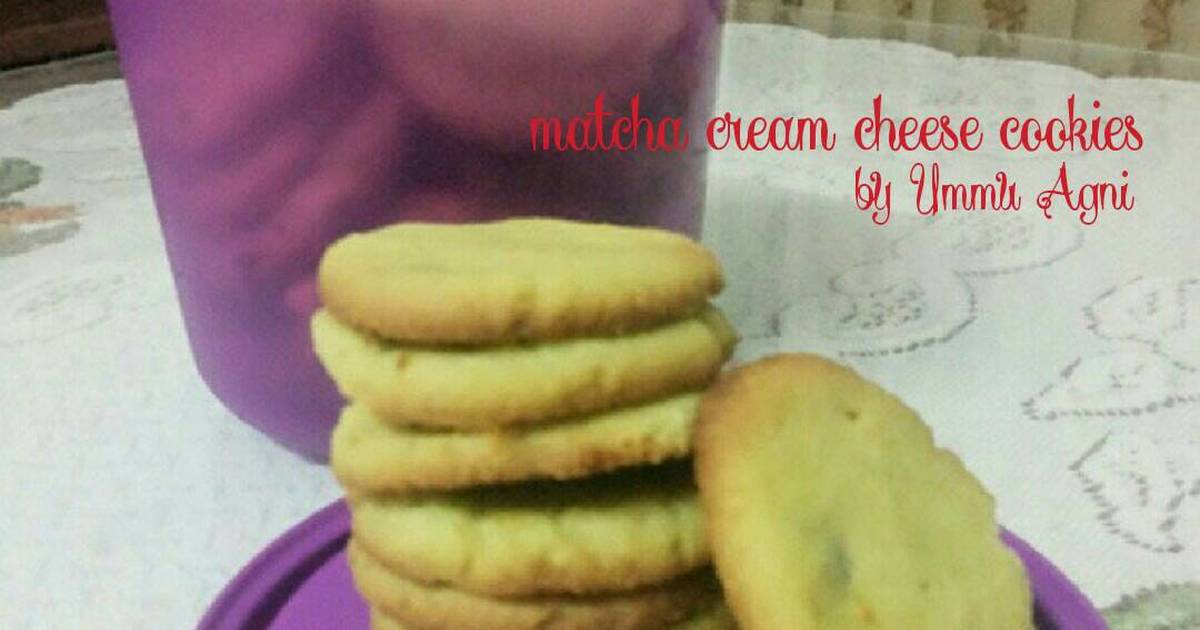Resep Greentea Cream Cheese Cookies