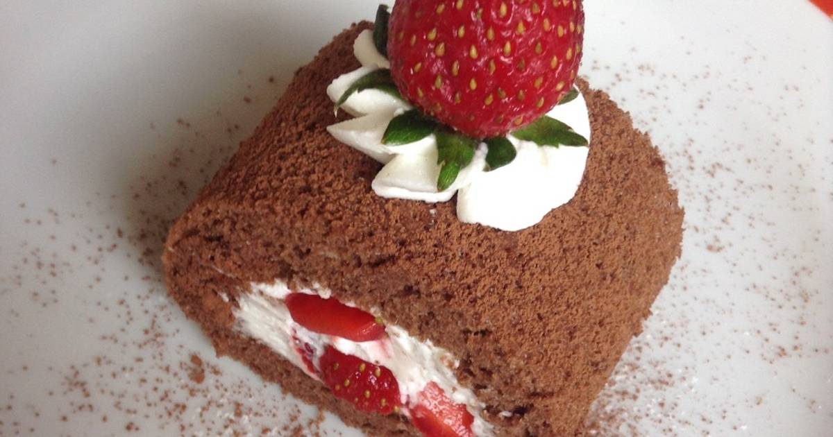 Resep Chocolate Roll Cake (Bolu Gulung Cokelat)