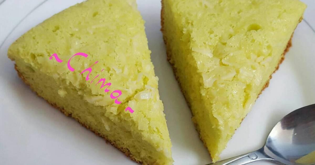 Resep Chiffon Pandan Keju Rice Cooker Cake