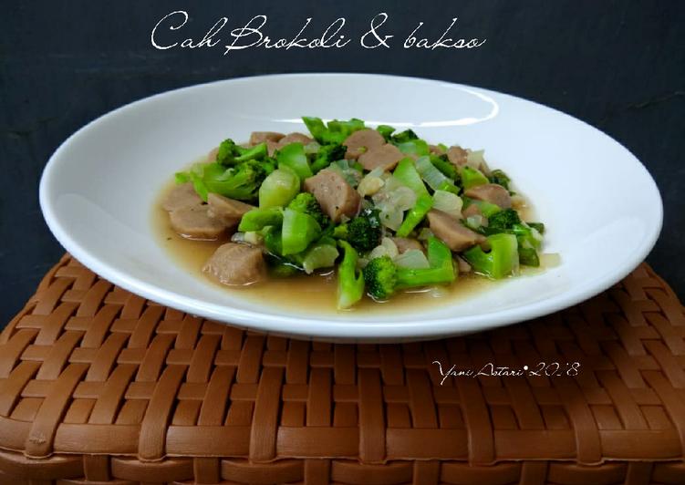 Cah brokoli & bakso