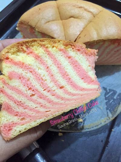 Strawberry Chiffon Cake #PR_anekachiffon