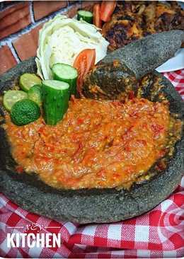 Sambel sari laut / sambel warung penyetan (ikan,ayam,tempe dll)