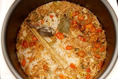 Nasi Liwet Rebon Ricecooker 🍚