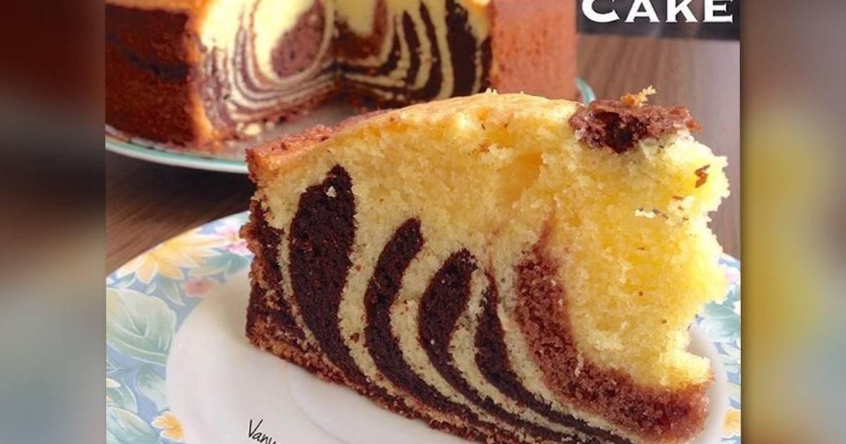 Resep Zebra Butter Cake